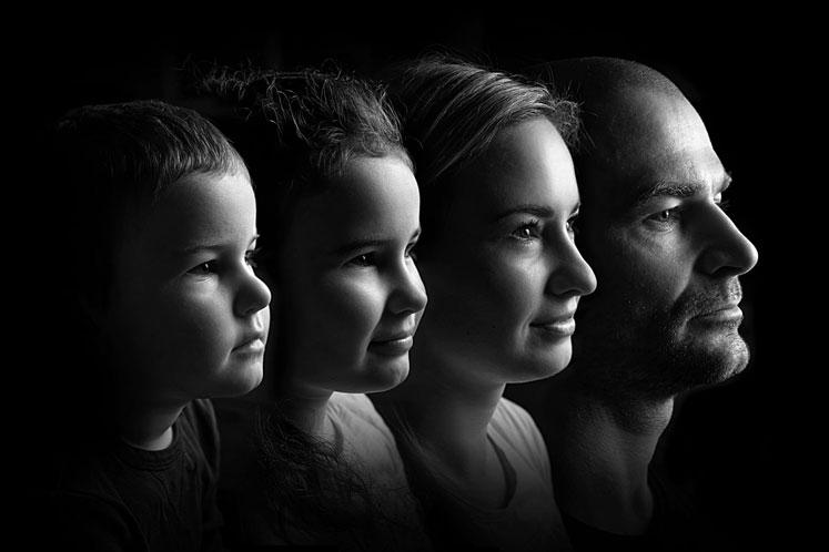 kreativní rodinné focení, rodina, portrétní fotograf
